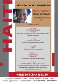 Per Haiti: serata di solidarietà