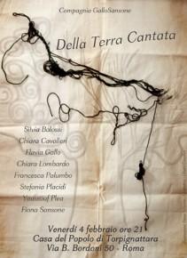 """Della Terra Cantata: Compagnia """"Gallo Sansone"""" alla Casa del Popolo"""