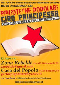 20 Aprile, ore 17.30, Torpignattara: commemorazione del compagno Ciro Principessa