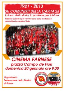 1921-2013: FESTEGGIAMO L'ANNIVERSARIO DELLA FONDAZIONE DEL PARTITO COMUNISTA