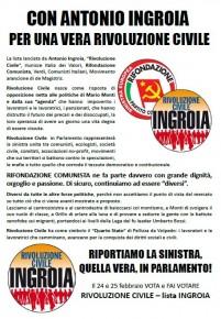 RIFONDAZIONE COMUNISTA CON ANTONIO INGROIA. RIPORTIAMO LA SINISTRA, QUELLA VERA, IN PARLAMENTO!