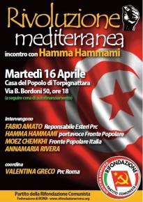 RIVOLUZIONE MEDITERRANEA: INCONTRO CON HAMMA HAMMAMI