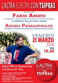 L'ALTRA EUROPA CON TSIPRAS. INCONTRO CON FABIO AMATO ED ARGIRIS PANAGOPOULOS