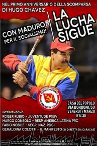 VENERDI 7 MARZO, ALLE 17,30  CON MADURO PER IL SOCIALISMO