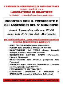 l'Assemblea permanente di Torpignattara incontra il municipio