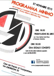 Il programma minimo. Per la classe e i comunisti in una fase non rivoluzionaria di Enzo Gamba, Gianfranco Pala