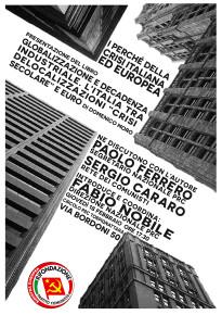 PRESENTAZIONE LIBRO GLOBALIZZAZIONE E DECADENZA.... 18 FEBBRAIO ORE 17.30, VIA BORDONI 50