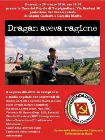 """Domenica 20 marzo ore 19,30 - """"Dragan aveva ragione"""""""