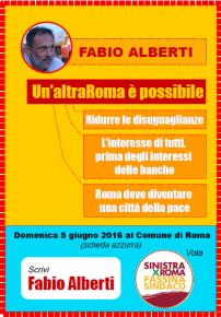 Appello al voto per Fabio Alberti