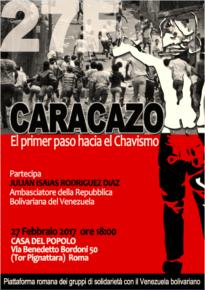 IL CARACAZO: LA RIVOLUZIONE CHAVISTA DAI PRIMI PASSI.