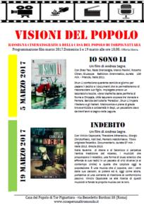 Visioni del Popolo - programmazione marzo 2017