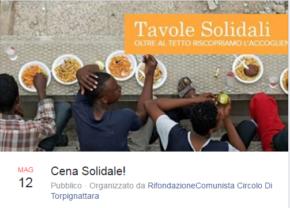 Tavole Solidali - Venerdi 12 maggio 2017