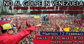 MANIFESTAZIONE CONTRO IL GOLPE IN VENEZUELA
