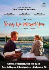 Giovedi 27 FEB ore 20,30 - Sorry we missed you - di Ken Loach