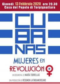 """Giovedi 13 febbraio - """"Cubanas  . Mujeres en revolucion"""""""