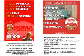 Roma Ti Riguarda Continua la campagna elettorale nel V Municipio - Cristina Grandi Presidente